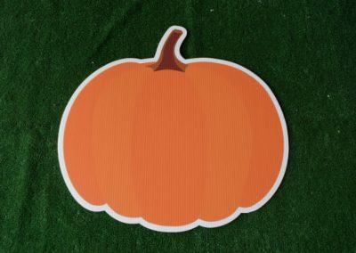 solid orange pumpkin fall yard sign