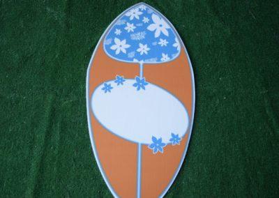 surf board yard sign
