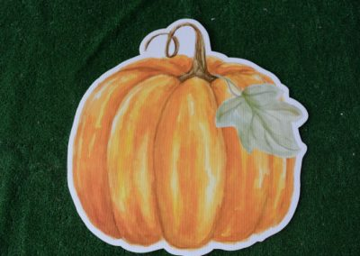 water color pumpkin with leaf yard sign