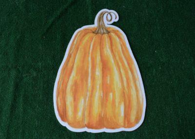 watercolor tall pumpkin yard sign