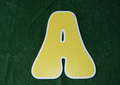 L-5 Yellow Letter Signs