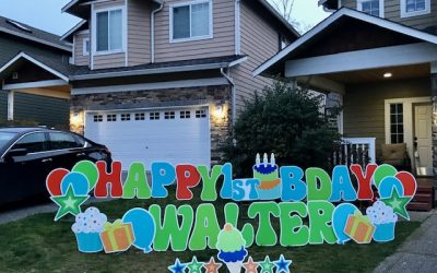 How Fun are these Cute 1st Birthday Yard Signs? Our Yard Signs make Perfect 1st Birthday Party Decorations!