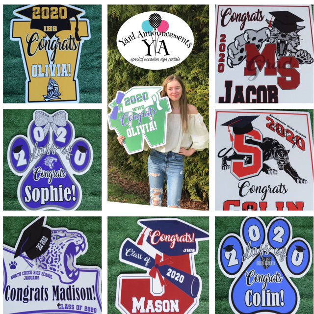 Personalized Graduation Signs by Yard Announcements – FUN Photo Props & Awesome Grad Party Decorations!