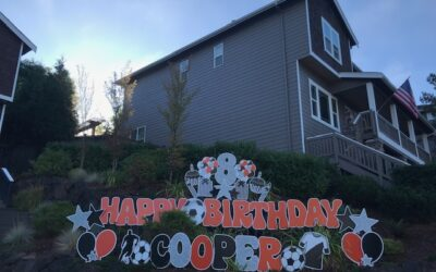 Thank You for Letting Yard Announcements be a Part of your Celebrations with our FUN Birthday Yard Signs! Great Idea for Birthday Parades or Birthday Party Decorations!