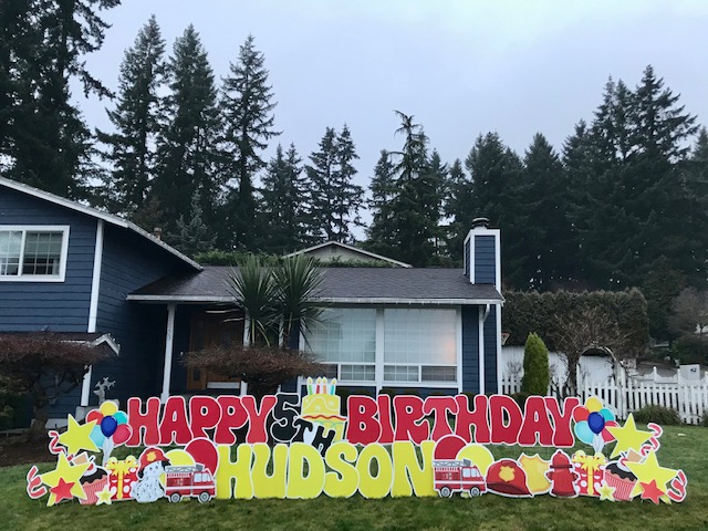 Birthday Yard Signs are our THING! New Fun Way to Celebrate by Yard Announcements!