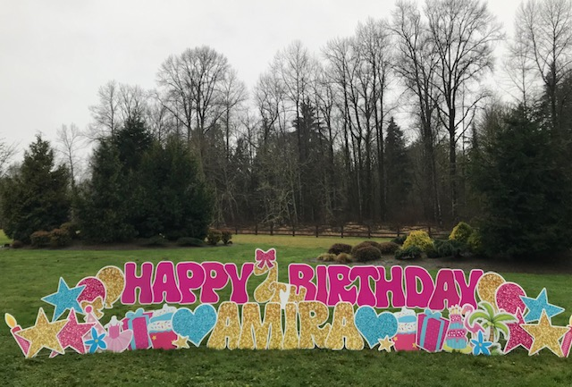 Make it a Memorable Birthday with Birthday Lawn Signs by Yard Announcements