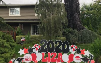 Yard Announcement's 2021 Graduation Yard Sign Displays Make FUN Graduation Parade Decorations or Grad Party Decor!