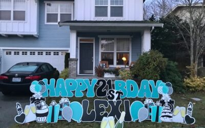 Cheers to 21 Years with a Birthday Yard Sign by Yard Announcements!