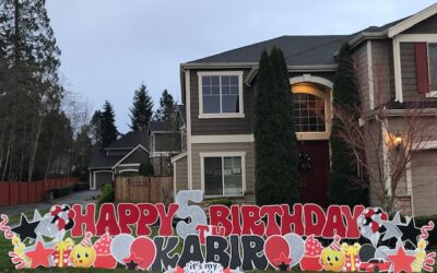 Birthday Yard Signs by Yard Announcements a Contactless FUN Way to Celebrate in the Midst of the Lousy Pandemic!
