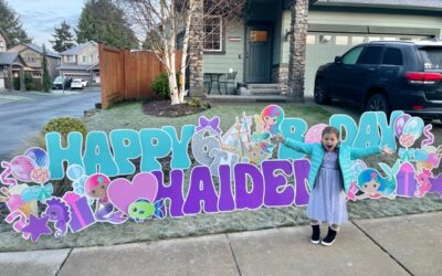 Themed Birthday Yard Signs by Yard Announcements Make Such Fun Birthday Party Decorations!