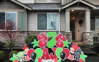Want to Celebrate BIG with Birthday Yard Signs but have a Small Yard? Yard Announcements can Help!