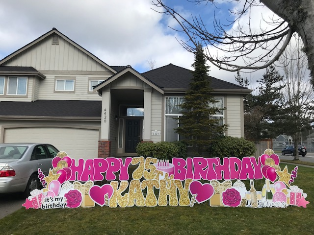How to Plan a Birthday Drive by Party with a Birthday Yard Sign by Yard Announcements