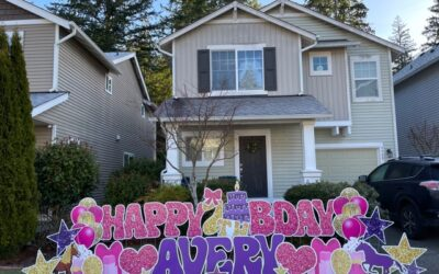 Birthday Yard Signs to Help You Celebrate BIG by Bringing the Party to the Yard!
