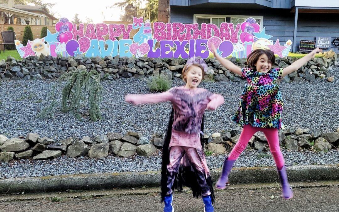 Make 'em Jump for Joy with a BIG Birthday Yard Sign by Yard Announcements
