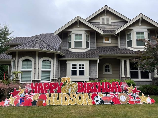 Birthday Yard Signs by Yard Announcements are an AWESOME Contact Free Way to Celebrate during Covid Times!