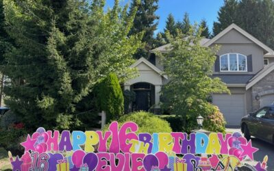 Sweet 16 Birthday Yard Signs Make a FUN and Memorable Surprise! Yard Announcements in Washington has SO MANY Sweet 16 Options!