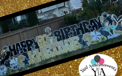 When All you Can do is LAUGH with a 50th Birthday Yard Sign!